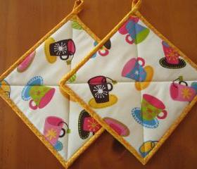Pot Holders - Tea and Coffee Cups