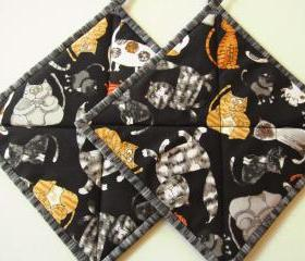 Pot Holders - Happy Cats