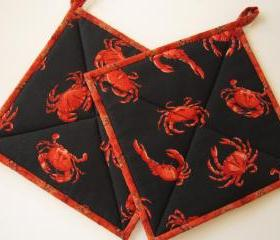 Pot Holders - Crabs