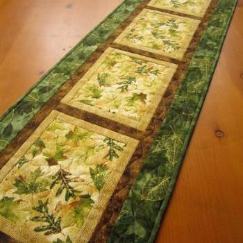 Quilted Table Runner Nature's Beauty